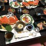 Japanese traditional hotel dinner