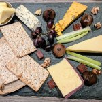 Cheese Platter for sharing with Gluten-Free Crackers & Pitas