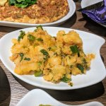' Patates Kavurma', potatoes with diced onion, parsley & crushed chili