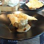 Albondigón con crema de queso Payoyo