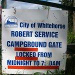 Robert Service campground Whitehorse Yukon