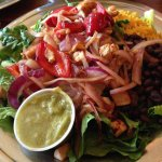 Grilled salad plate