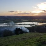 Looking down across the Somerset Levels