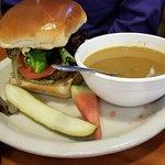 Big nasty burger. Excellent.