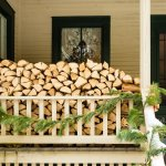 Firewood is ready for cozy fires in the fireplace this winter
