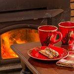 The B&B features several cozy spots to enjoy a cup of tea with someone special