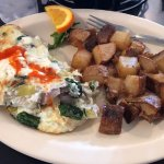 Egg white omelette & potatoes
