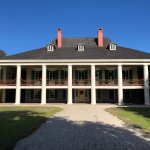 Front of Destrehan Plantation house.