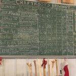 Menu of brew options