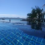 View from our private infinity plunge pool.