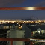 The night time view looking towards Table Mountain