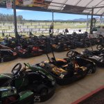 Karts lined up ready to go