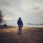 Belle Isle overlooking the River towards Detroit