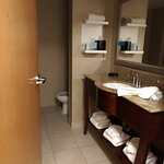 Super clean bathroom with lovely toiletries.