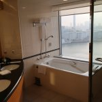 Sparate tub and shower, plus a picture window view, bathroom, Room 1821