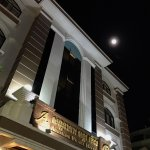 Hotel Entrance with Full Moon