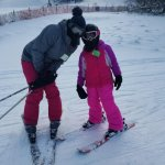 Annual ski trip with the family. The grand daughters learned this year in ski school