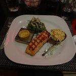 Salmon dish at rbg restaurant.
