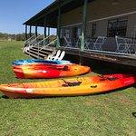 Rent a single or tandem kayak for a ride around Lake Buchanan.