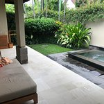Private villa outside with plunge pool