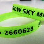 Wristband for identify the visitors going to Sky Mirror Beach