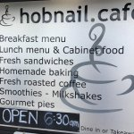 At the Hobnail cafe