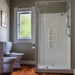 Private en-suite bathroom with spacious shower