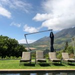 Again at Eco pool but with classic Cape Winelands mountain backdrop