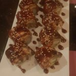 spider roll with restaurant's unagi speciality