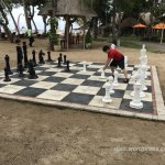 Giant chess at private beach