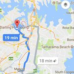 20 minutes from Sydney airport via taxi