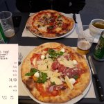 2 pizzas, 2 beers = 74.50 CHF? Enjoy the lake view in Zurich!
