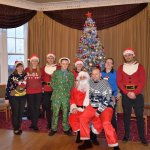 The staff all dressed up for Christmas