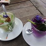 Must try these drinks - ginger lemongrass tea & butterfly pea flower drink