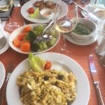 Bacalhau A Bras and vegetables