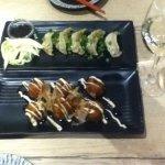 Gyoza (top) and Takoyaki apps.