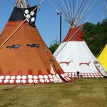 Tipees in the First Nations Event, not to be missed!