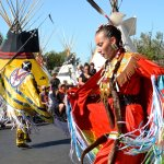 First Nation People compete in various dance performances with beautiful costumes.