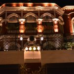A view of a Kolkata iconic hotel in the dazzle of lights
