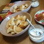 Potato varenyky and Siberian pelmini