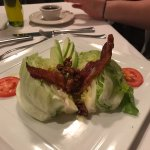 Wedge salad fresh and flavorful