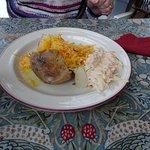 jacket potato cheese and coleslaw