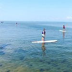 1st time paddle boarding on the sound OBX