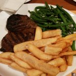 Steak for the hubby - well done as he likes