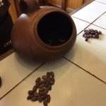 ChocoMuseum cocoa bean roasting pot, the smell was divine!