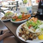 Fish tacos and deep fried shrimp!