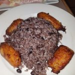 fried plantains/ black beans and rice