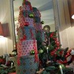 Hall d'accueil décoré pour Noël
