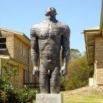 Statue in military area