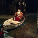 Santa sled pulled by Dolphins